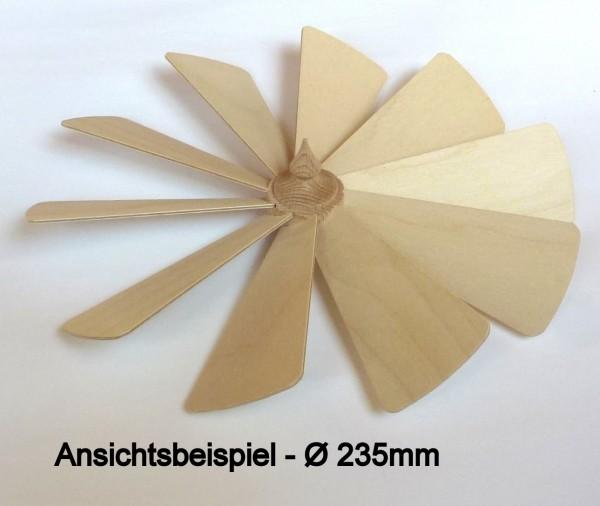 Flügelrad mit 10 Sperrholzflügel komplett montiert