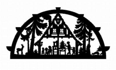 Vorlage Schwibbogen - Motiv Waldhaus
