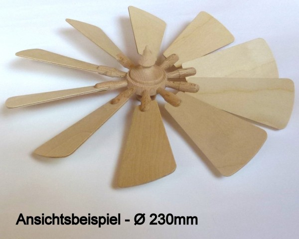 Flügelrad mit 10 Sperrholzflügel Stärke1.5mm - steckbar