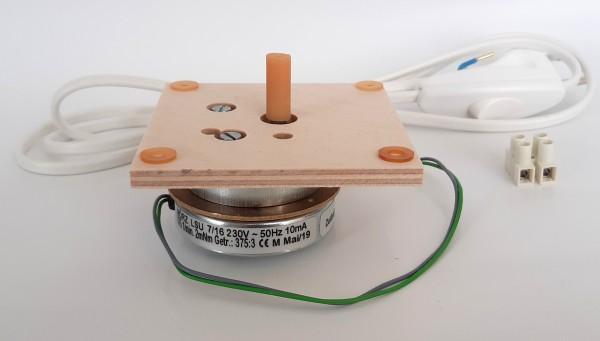 Motorset - Platte 80x80, Schlauchkupplung, Anschlussleitung, Motor