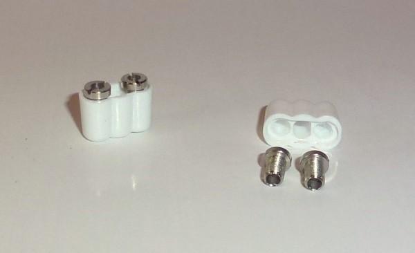kleine 2-fach Kupplung für Stift 2,0mm